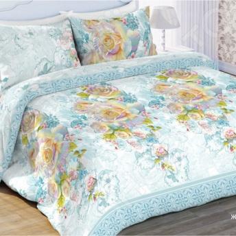 Комплект постельного белья Любимый дом «Жемчужная роза». Евро