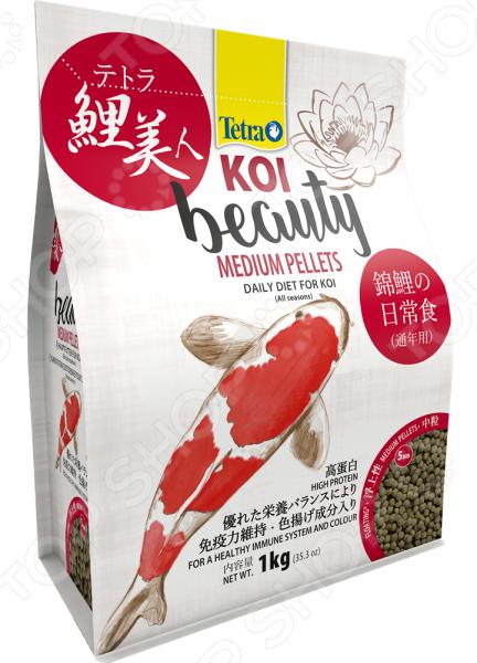 Корм для карпов кои Tetra Koi Beauty Medium Pellets корм для прудовых рыб tetra floating pellets s