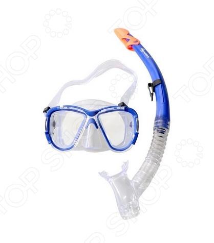 Набор из маски и трубки WAWE MS-1311S58 Набор из маски и трубки WAWE MS-1311S58 /Синий