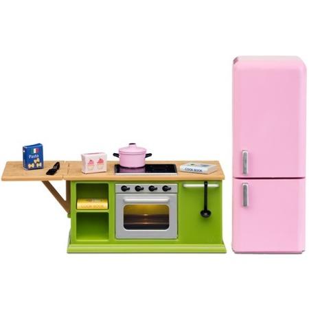 Купить Мебель для куклы Lundby Smoland «Кухня с холодильником»