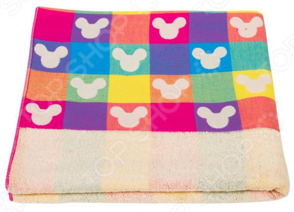 Полотенце махровое Dream Time «Микки Маус». Цвет: голубой