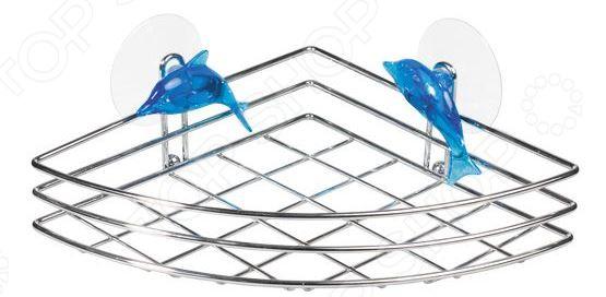 Полка для ванной угловая Tatkraft Dolphin Blue
