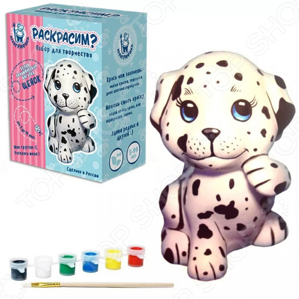 Набор для росписи керамики Игрографика «Слон» набор для росписи керамики игрографика кролик