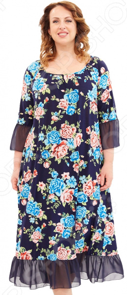 Платье Матекс «Взгляд розы». Цвет: голубой цена 2017