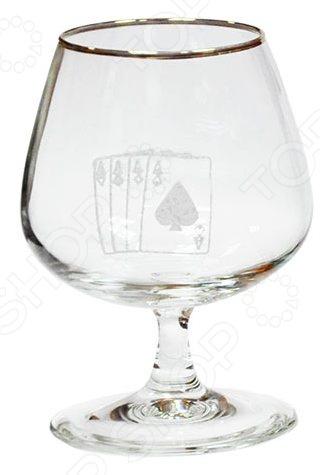 Набор бокалов для бренди Гусь Хрустальный «Колода» набор бокалов для бренди гусь хрустальный версаче 400 мл 6 шт