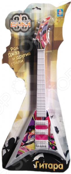 Гитара игрушечная 1 Toy «Музыкальный БУМ». В ассортименте поло print bar на оливье