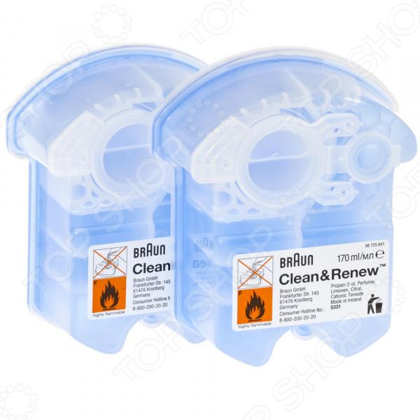 Картридж для электробритв с чистящей жидкостью Braun CCR 2 аксессуары для электробритвы braun 760cc 790cc 9595 9795 9565 9566