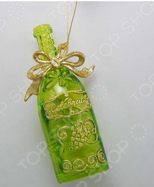 Новогоднее украшение Crystal Deco «Бутылочка»