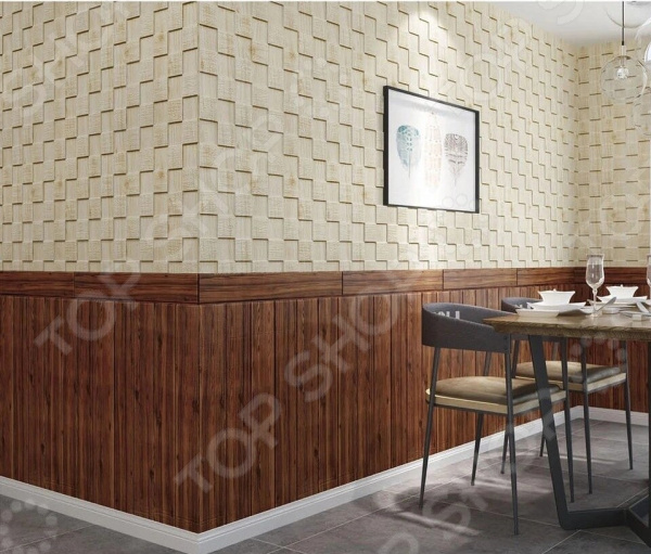 Панель стеновая самоклеящаяся Ricotio «Массив дуба» 3D