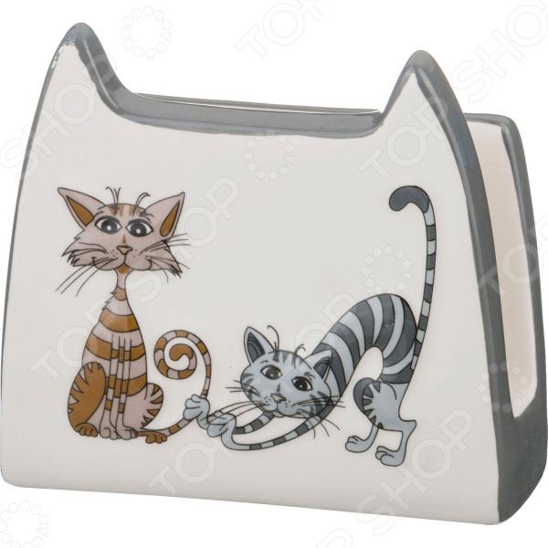Салфетница Lefard «Озорные коты» 188-108