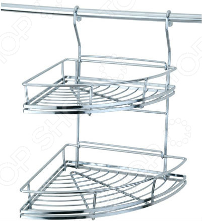 Полка для кухни угловая двухуровневая Esprado Platinos двухъярусная угловая полка esprado platinos 0012534e205