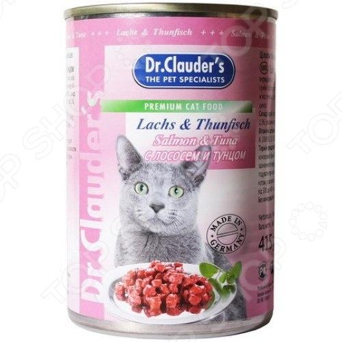 Корм консервированный для кошек Dr. Clauder's Lachs & Thunfisch корм консервированный для кошек dr clauder s herz in delikater sosse