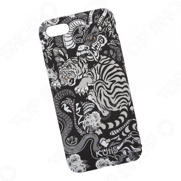 лучшая цена Чехол для iPhone 7/8 KUtiS Monochrome AK-3 «Тигр и Дракон»