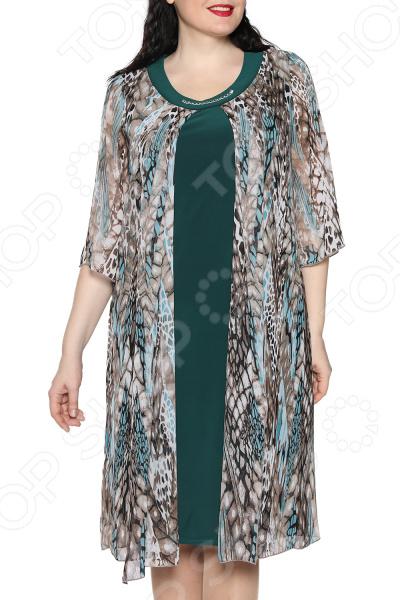Платье Лауме-Лайн «Звездное настроение». Цвет: изумрудный