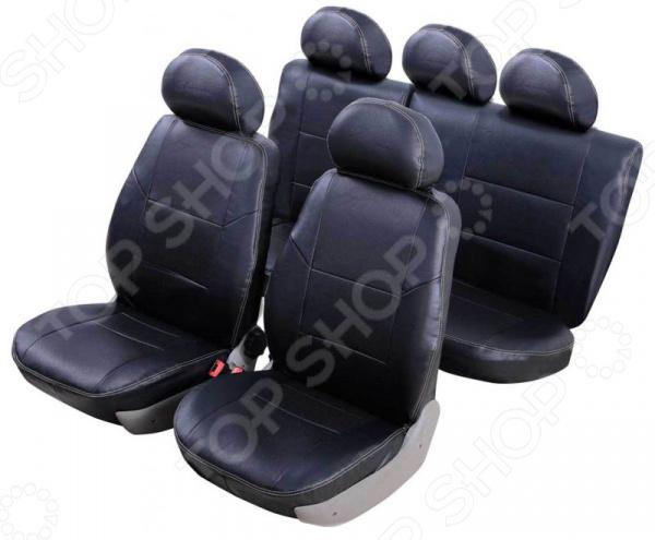 Набор чехлов для сидений Senator Atlant Lada 2190 Granta 2011 5 подголовников раздельный задний ряд чехлы модельные senator atlant экокожа lada vesta 2015 … седан раздельный задний ряд черный s1013581