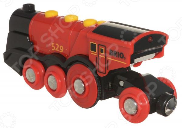 Локомотив игрушечный со светозвуковыми эффектами Brio 33592