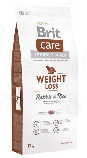 Care Weight Loss Rabbit & Rice Корм сухой для собак склонных к полноте Brit Care Weight Loss Rabbit & Rice