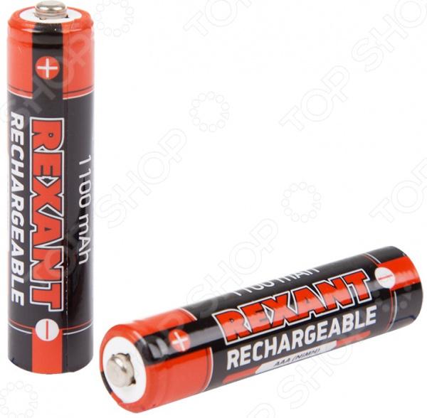 Набор батареек аккумуляторных Rexant 30-1411 аккумулятор aaa rexant 1 2v 1100mah 2шт 30 1411