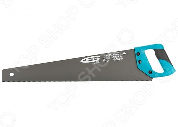 Ножовка по дереву GROSS Piranha с тефлоновым покрытием полотна заклепочник усиленный gross 40409