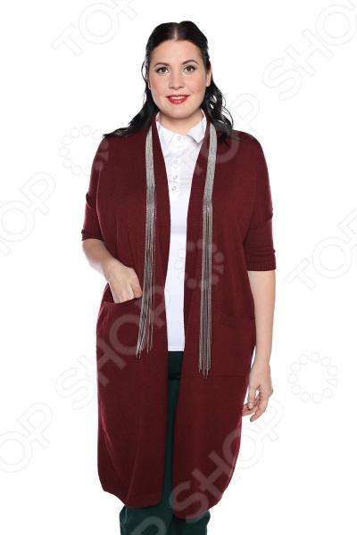 Кардиган Milana Style «Багряный вечер». Цвет: винный платье milana style milana style mi038ewxjv28