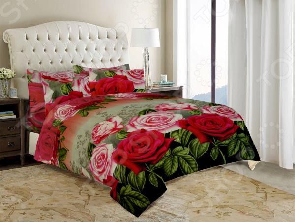 Комплект постельного белья «Нежность». Евро. Цвет: розовый
