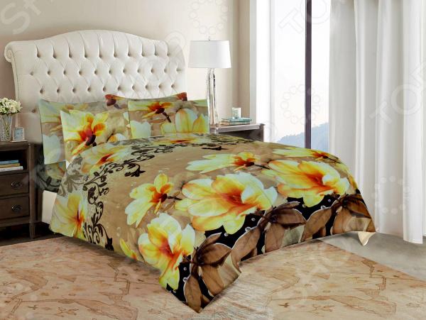 Комплект постельного белья «Желтые цветы». 2-спальный