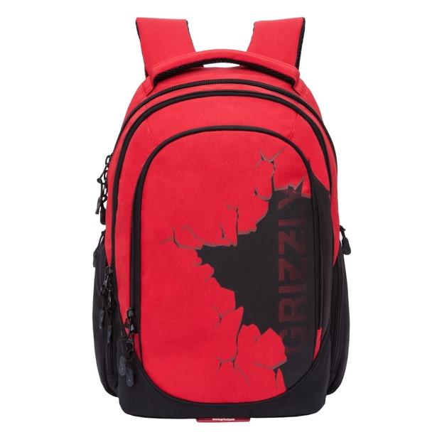фото Рюкзак молодежный Grizzly RU-803-1. Цвет: красный