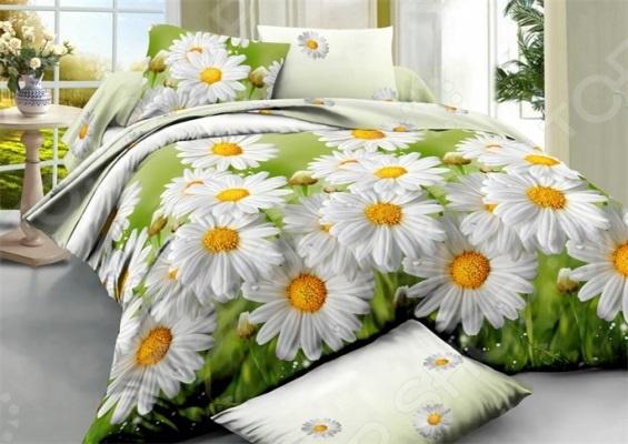 Комплект постельного белья «Цветочек». Евро. Рисунок: ромашки