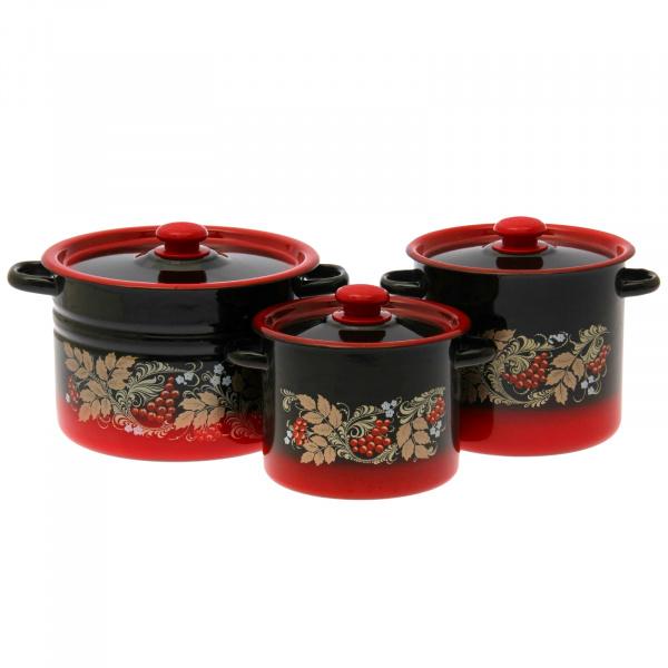 Набор посуды «Рябинка». Цвет: красный набор эм 2 предмета 10 рябинка крас чер 1078070