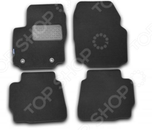 Комплект ковриков в салон автомобиля Novline-Autofamily Opel Astra H 5D 2004 хэтчбек. Цвет: серый дефлектор капота autofamily sim темный opel astra 2004 nld sopast0412