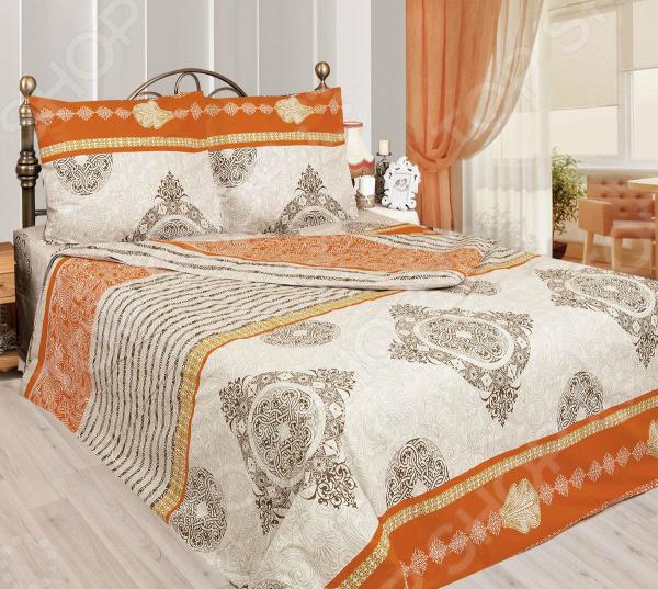 Комплект постельного белья Сова и Жаворонок «Папайя». 1,5-спальный