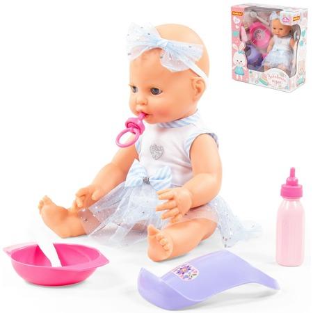 Купить Набор: кукла и принадлежности для кормления POLESIE «Забавный пупс» 78339