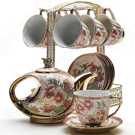 Чайный набор Loraine 22537 сервиз чайный loraine на подставке 13 предметов 43283