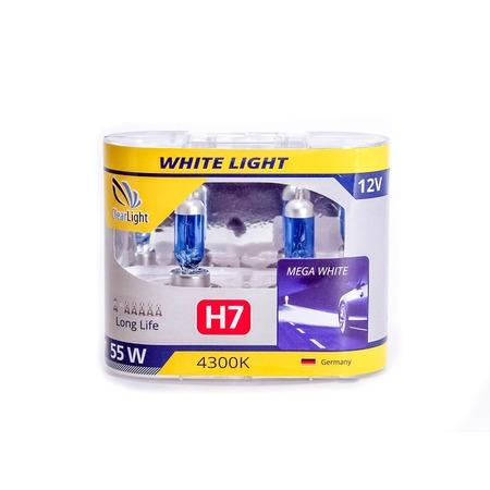 Комплект автоламп галогенных ClearLight WhiteLight H7 12V-55W