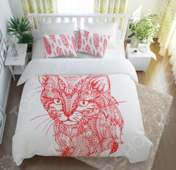 Комплект постельного белья Сирень «Волшебный кот» цены онлайн