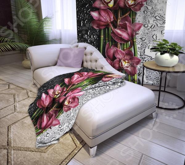 Плед «Орхидея на стекле»