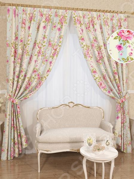 Комплект штор Сирень «Нинетта» комплект штор с покрывалом для спальни в москве