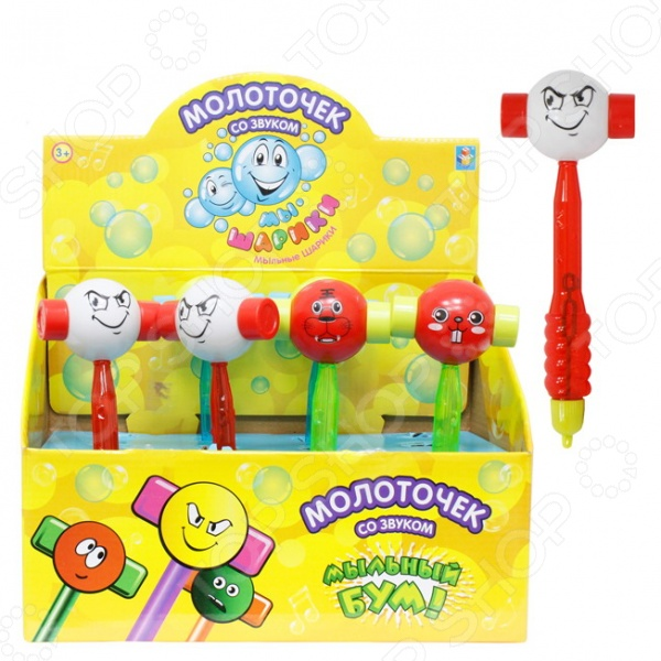Мыльные пузыри с аксессуарами 1 Toy «Мы-шарики! Молоточек». В ассортименте