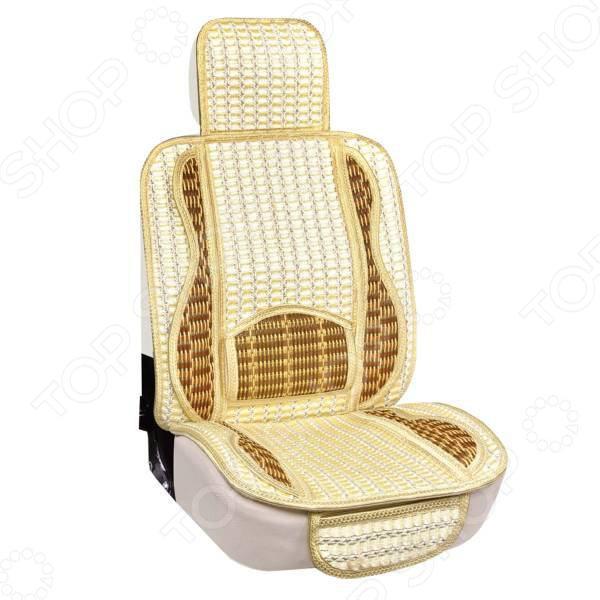 Набор чехлов для сидений SKYWAY «Люкс. Премиум-класс. Сетка» Набор чехлов для сидений SKYWAY S01301098 /Бежевый