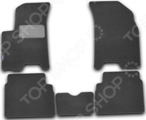 Комплект ковриков в салон автомобиля Novline-Autofamily Chevrolet Aveo 2008. Цвет: черный