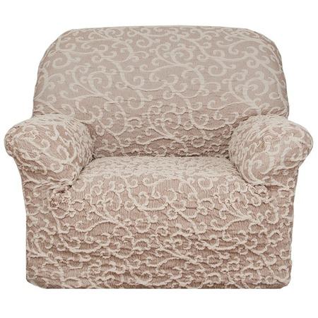 Купить Натяжной чехол на кресло Еврочехол «Жаккард. Волны»