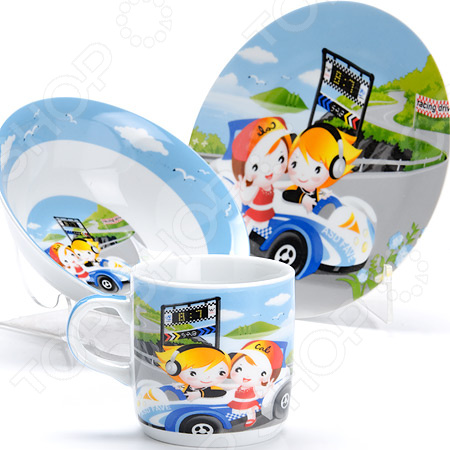 Набор посуды для детей Loraine «Авто» LR-27340