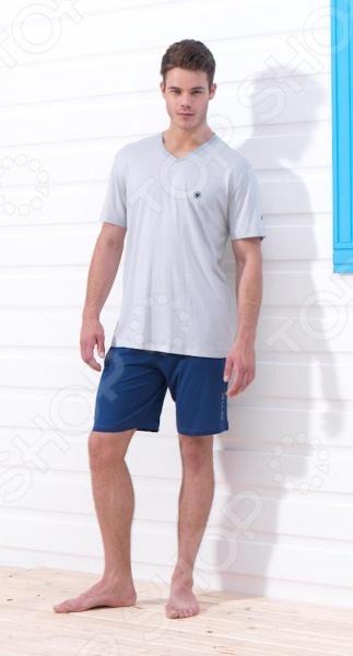 Пижама мужская BlackSpade 7222. Цвет: серый