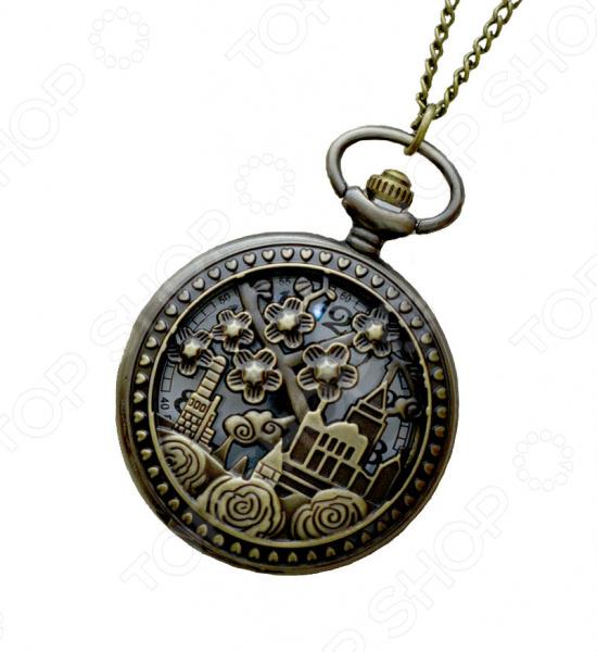 Кулон-часы Mitya Veselkov «Изумрудный город (большой)»