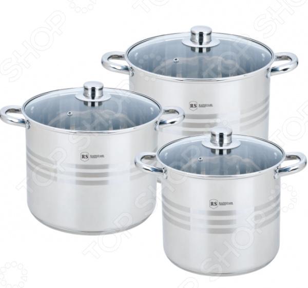 Набор кастрюль Rainstahl 2301-06RS/CW BK набор посуды rainstahl с антипригарным покрытием 12 предметов цвет белый 1855 12rs cw мrb