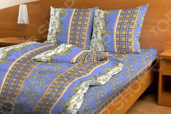 Комплект постельного белья Fiorelly «Дворцовая клетка». Семейный