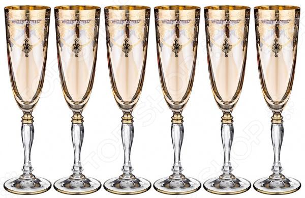 Набор бокалов для шампанского ART DECOR «Амальфи» 326-050 набор бокалов crystalex джина б декора 6шт 210мл шампанское стекло