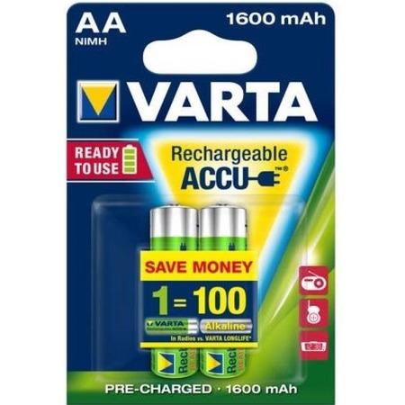 Батарея аккумуляторная VARTA AA R2U 1600 мАч 2 шт.