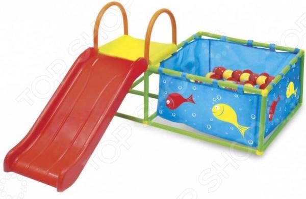 Игровой центр: бассейн надувной и горка Bradex Deluxe. Количество мячей: 50 шт