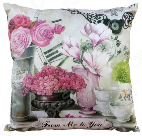 Подушка декоративная Gift'n'Home «Парижские цветы»